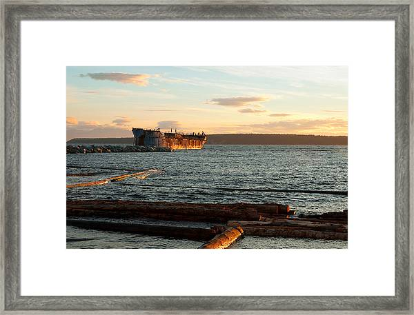 Rough Water Hulk Framed Print