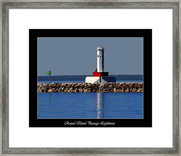 Round Island Passage Lighthouse Framed Print