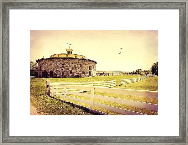 Round Stone Barn Framed Print