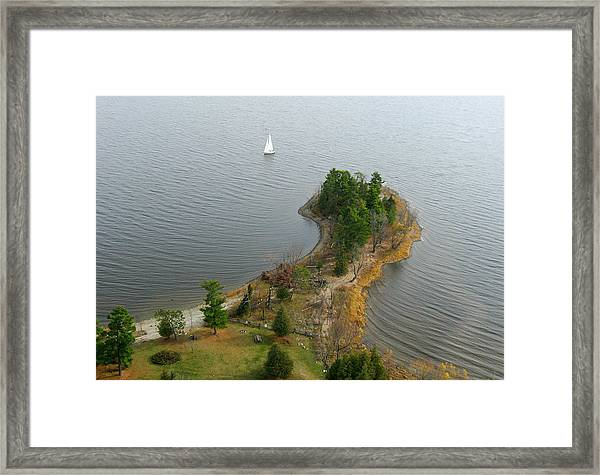 Round The Point  Pinheys Point Ontario Framed Print
