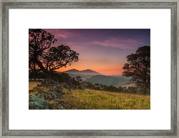 Round Valley After Sunset Framed Print
