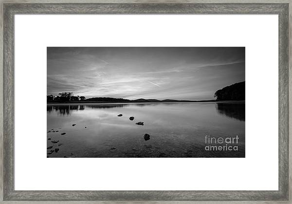 Round Valley At Dawn Bw Framed Print