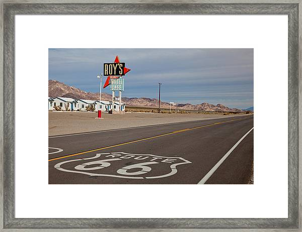 Route 66 At Amboy Framed Print