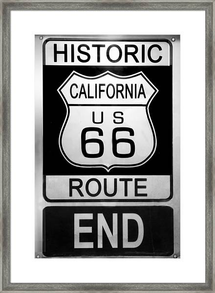 Route 66 End Framed Print
