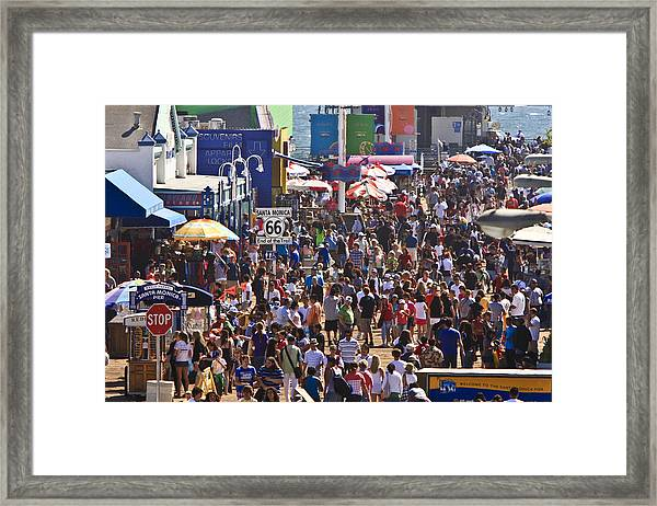 Route 66 End Of The Trail Framed Print