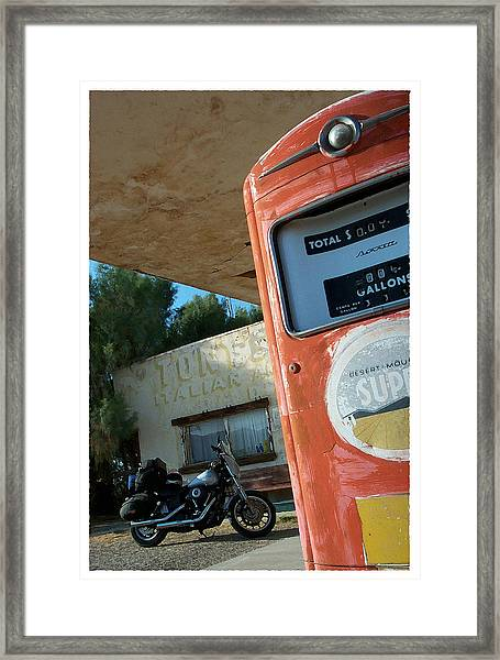 Route 66 Harley Framed Print