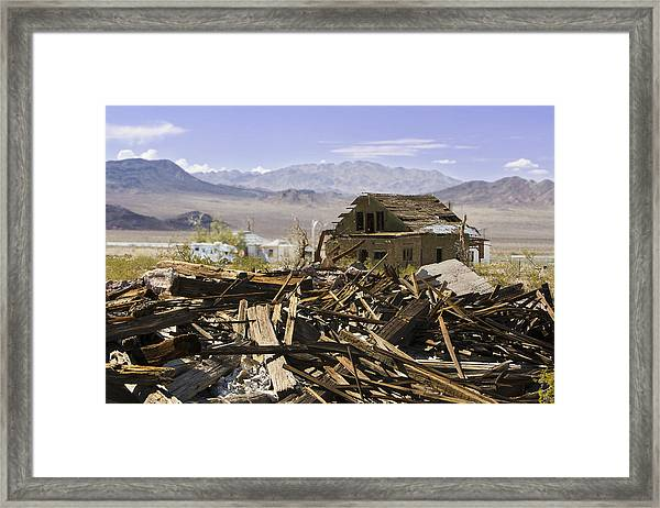 Route 66 Ludlow Decay Framed Print