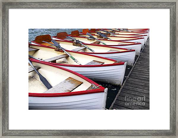 Rowboats Framed Print