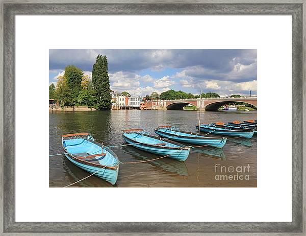 Rowing Boats At Hampton Court Framed Print