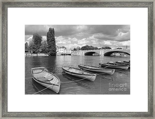 Rowing Boats Framed Print