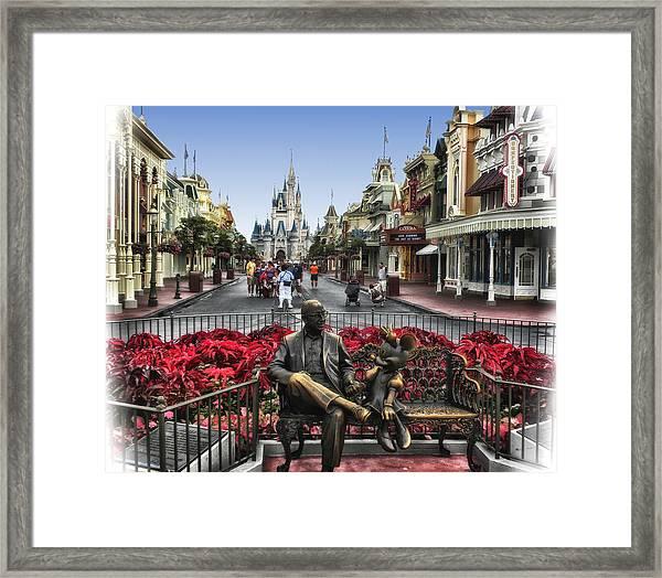 Roy And Minnie Mouse Walt Disney World Framed Print