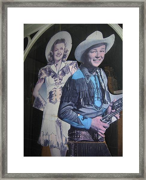 Roy Rogers And Dale Evans #2 Cut-outs Tombstone Arizona 2004 Framed Print
