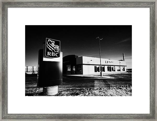 royal bank of canada rbc branch in winter Saskatoon Saskatchewan Canada by  Joe Fox