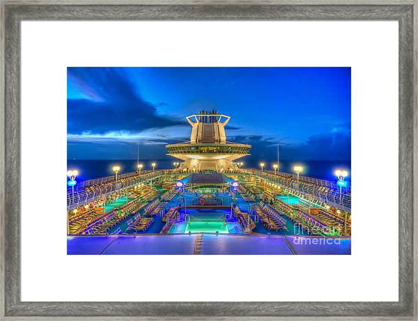 Royal Carribean Cruise Ship  Framed Print