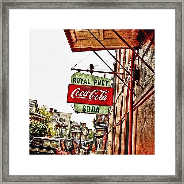 Royal Pharmacy  Framed Print