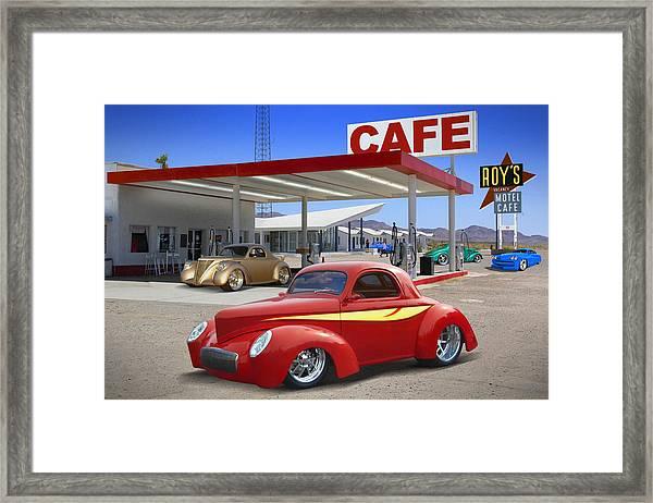 Roy's Gas Station 2 Framed Print