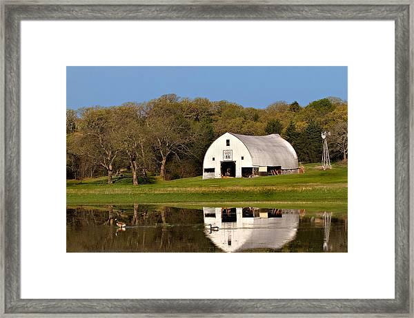 Rt 66 Hay Farm Oklahoma Framed Print