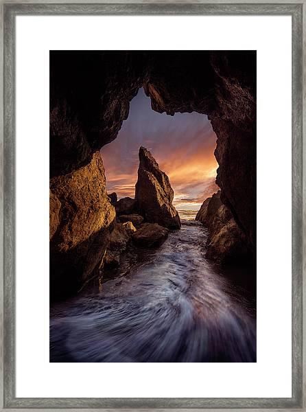 Ruby Beach Framed Print by Louise Yu