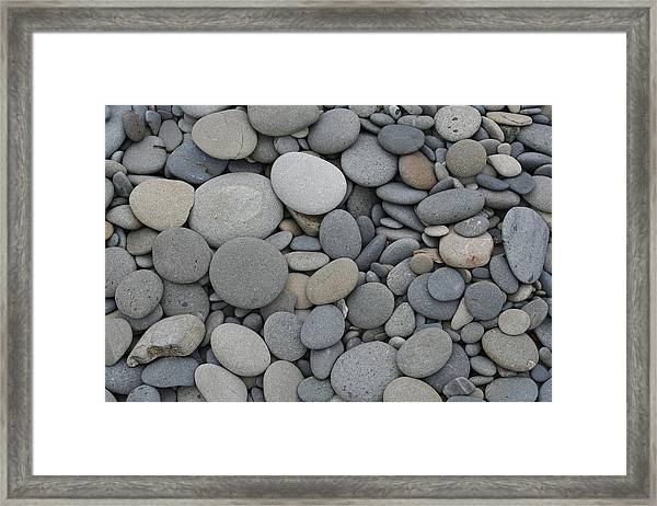 Ruby Beach Pebbles Framed Print