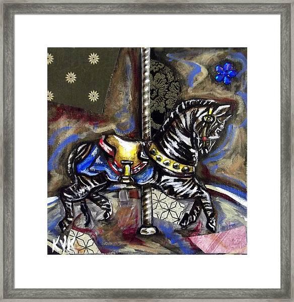 Ruby's Zebra Framed Print