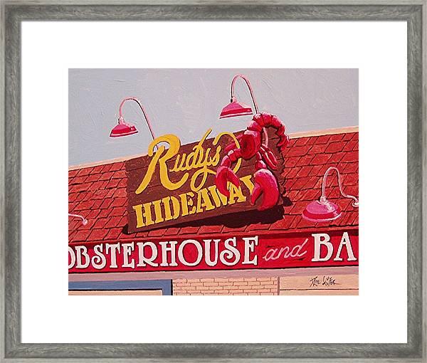 Rudy's Hideaway Framed Print by Paul Guyer