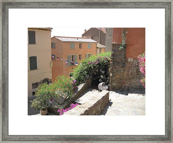 Rue De La Rose Framed Print