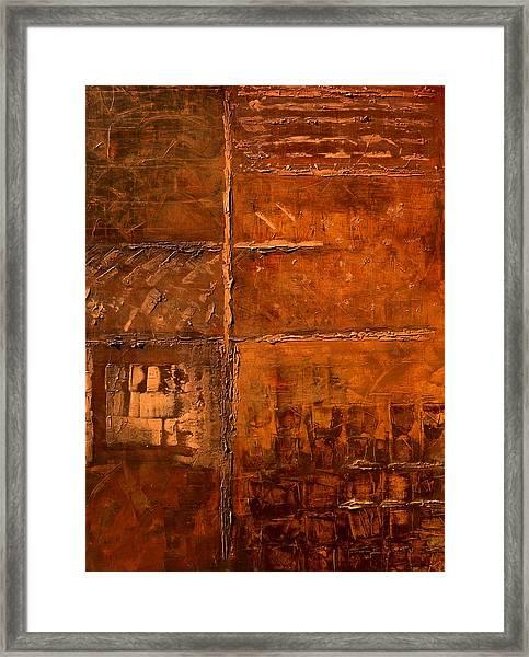 Rugged Cross Framed Print