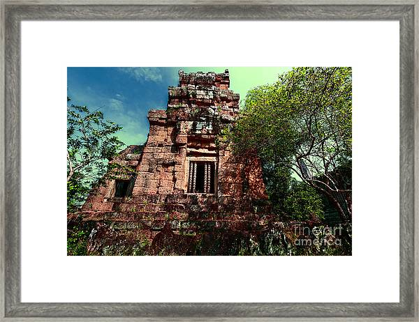 Ruin At Angkor Framed Print