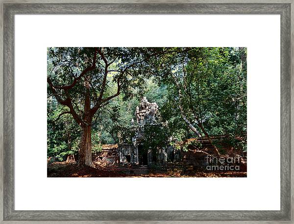 Ruin At Angkor Wat Framed Print