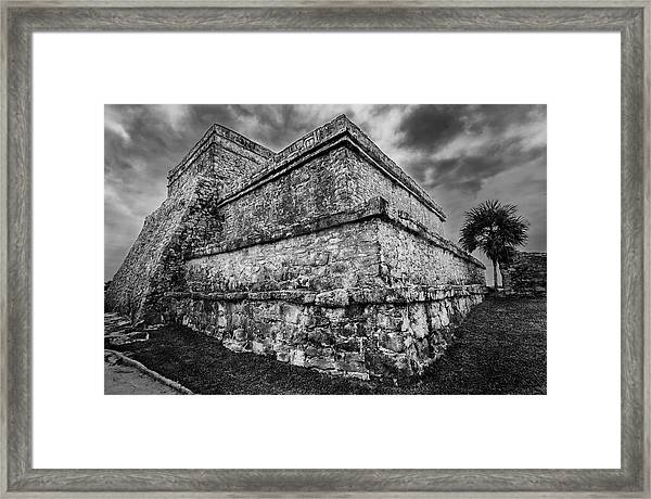 Ruin At Tulum Framed Print