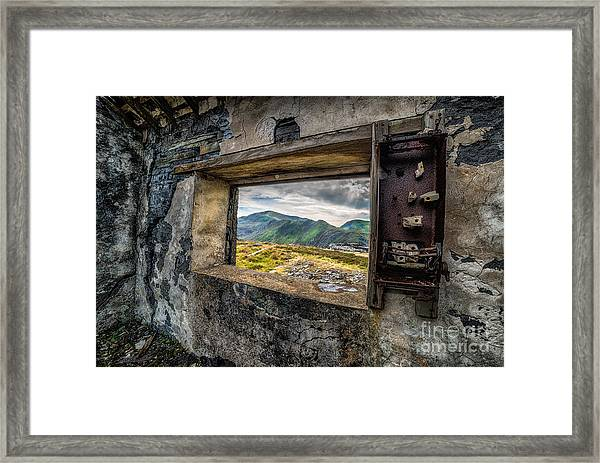 Ruin With A View  Framed Print