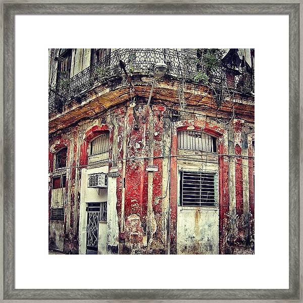 Ruins - Havana once Upon A Time Framed Print
