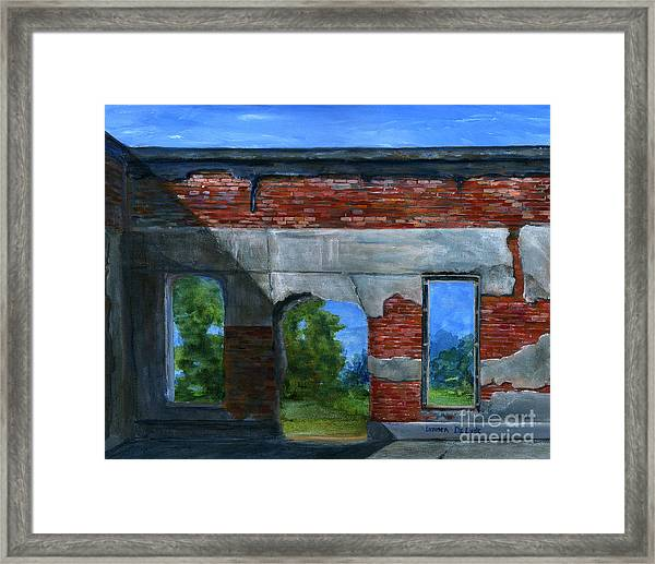 Ruins In Pleaant Hill Framed Print
