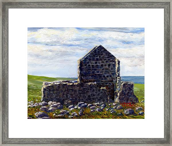 Ruins In Tasmania On The Sea Shore Framed Print