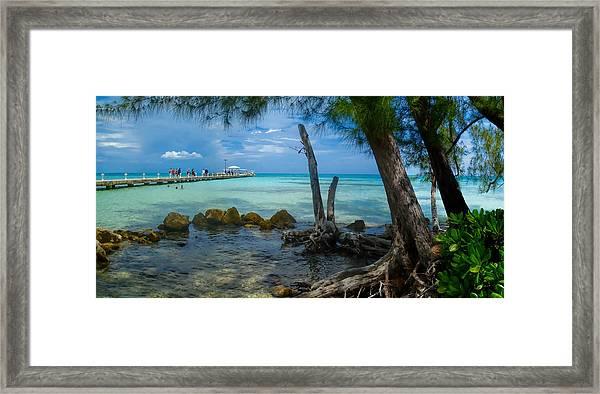 Rum Point Pier Framed Print