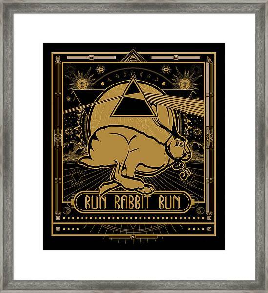 Run Rabbit Run Framed Print