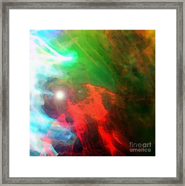 Run Towards The Light Framed Print