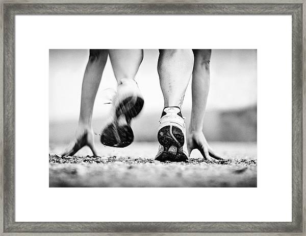 Runner Framed Print by Heidi Bartsch