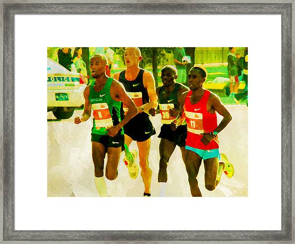 Runners Framed Print