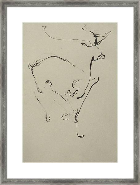 Running Framed Print by Cynthia Harvey