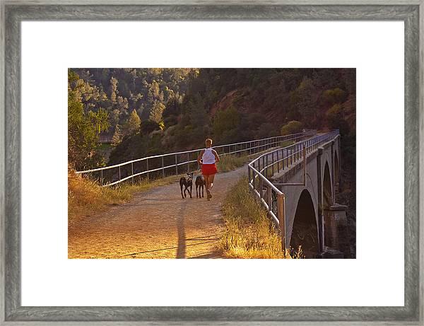 Running On No Hands Framed Print