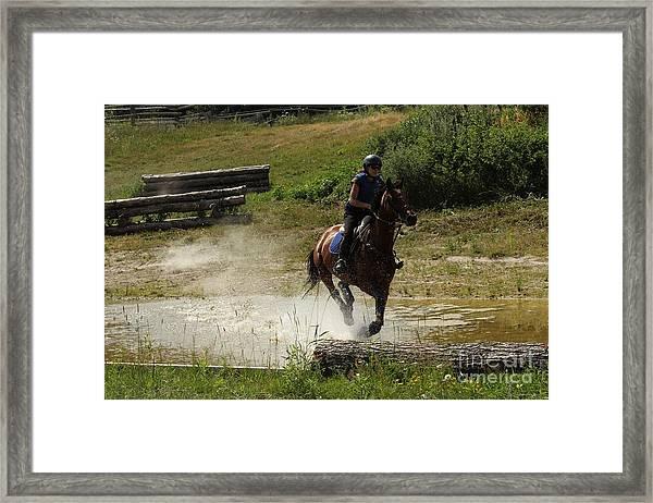 Running Thru Water  Framed Print