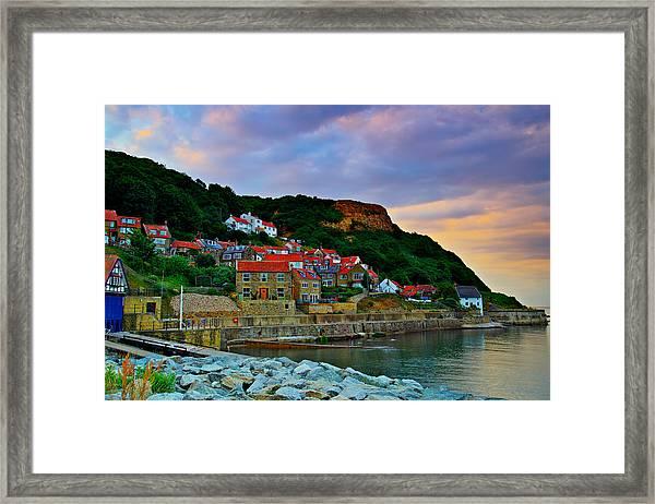 Runswick Bay England Framed Print