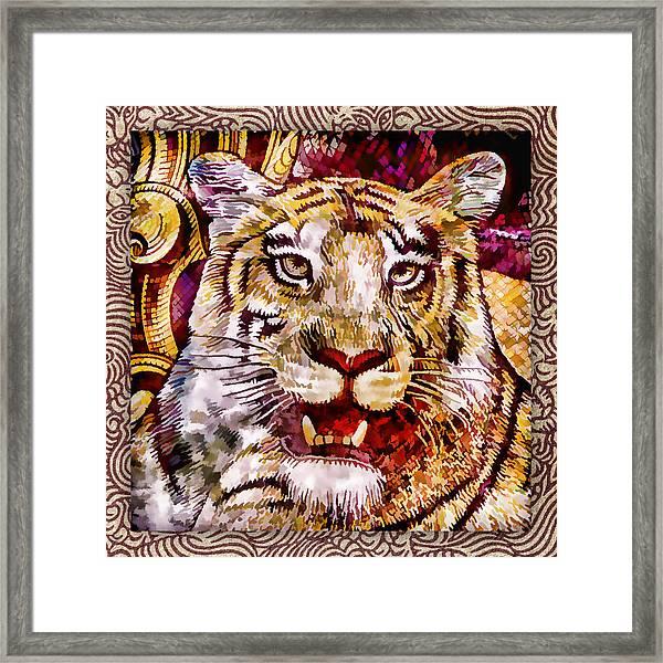 Rupee Tiger Framed Print