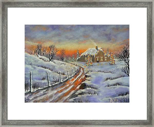 Rural Christmas Framed Print