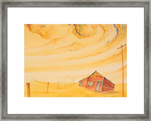 Framed Print featuring the painting Rural Post Office by Scott Kirby