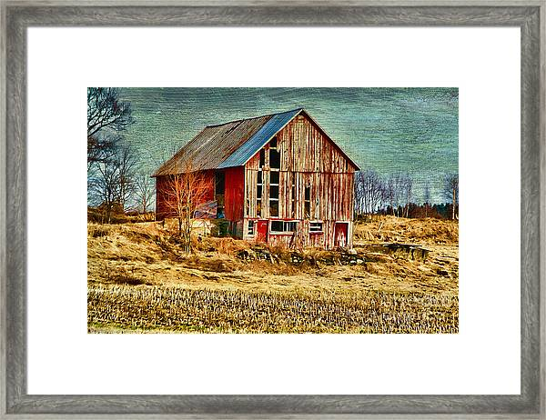 Rural Rustic Vermont Scene Framed Print