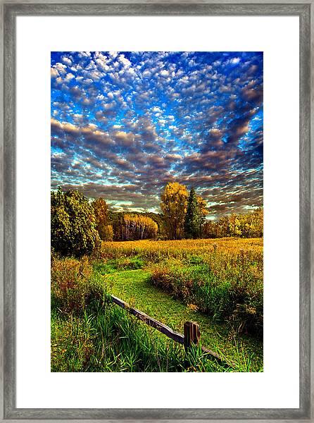 Rural Way Framed Print