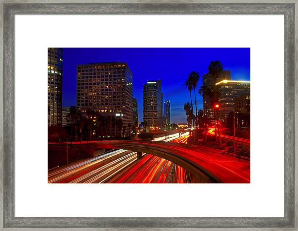 Rush Hour Blue Framed Print