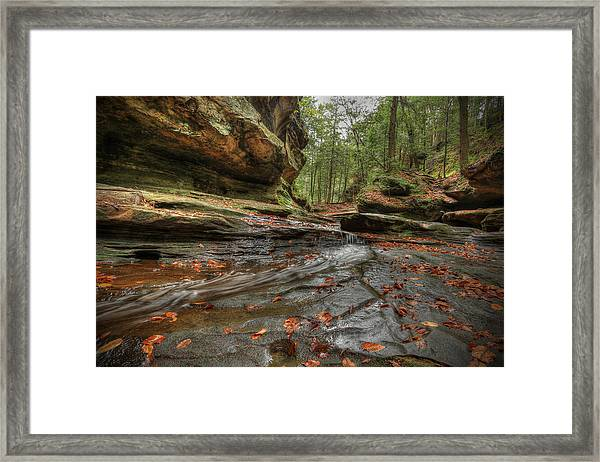Rush To Old Man's Cave Framed Print